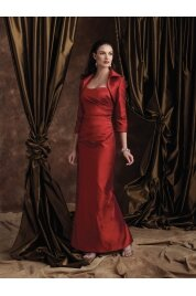 Sheath Strapless Floor Length Silk Dupioni Evening Dress Style